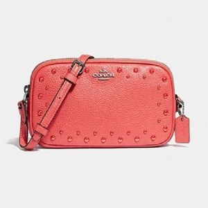 Coach Dinky Pouch Leather Crossbody Bag